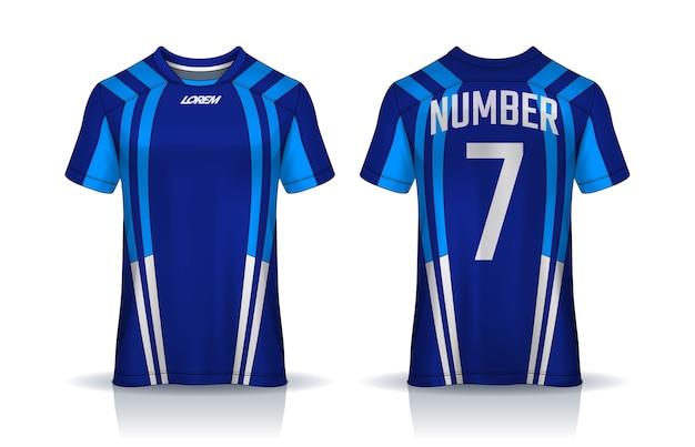 Conception de t-shirt en jersey de football