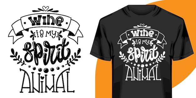 Conception de t-shirt lettrage dessiné à la main