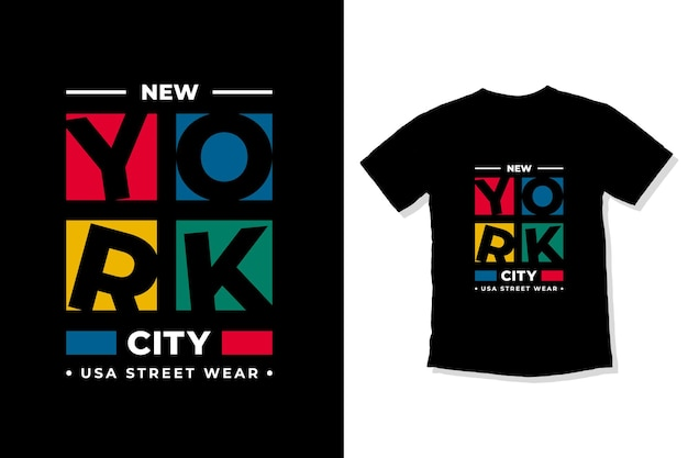 Conception de t-shirt de lettrage moderne de new york city