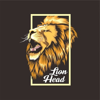 Conception de t-shirt lion