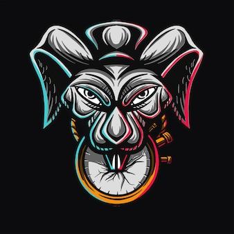 Conception de t-shirt magic rabbit