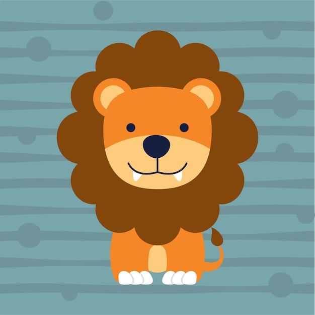 Conception de t-shirt mignon petit lion enfants