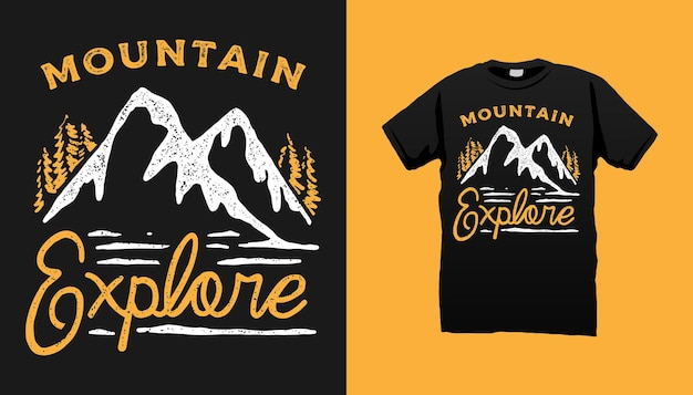 Conception de t-shirt de montagne