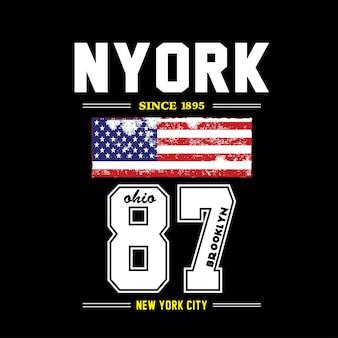 Conception de t-shirt de new york