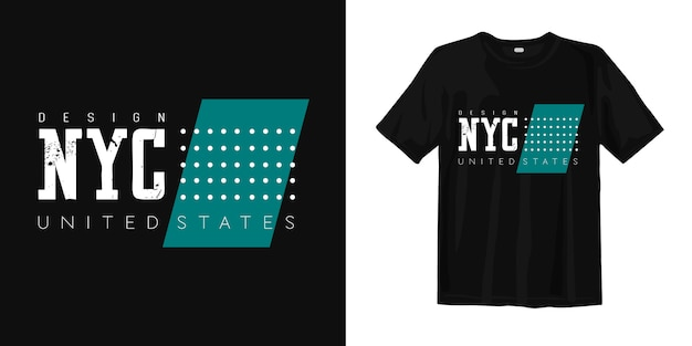 Conception de t-shirt nyc united states