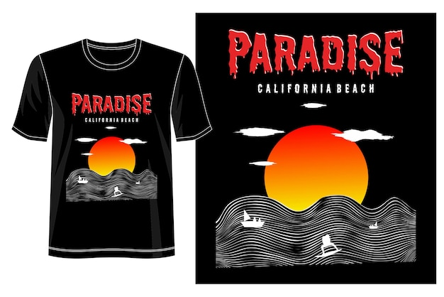 Conception de t-shirt paradis
