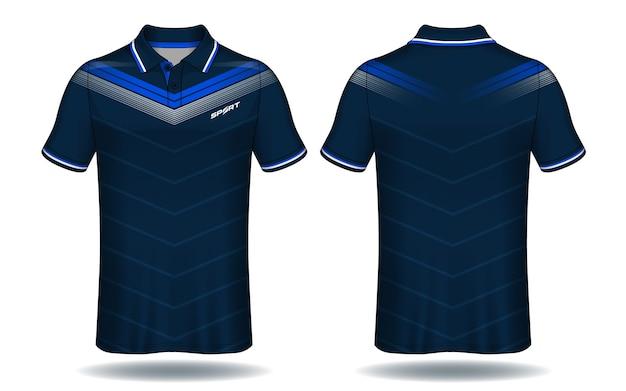 Conception de t-shirt polo, modèle de maillot de sport.
