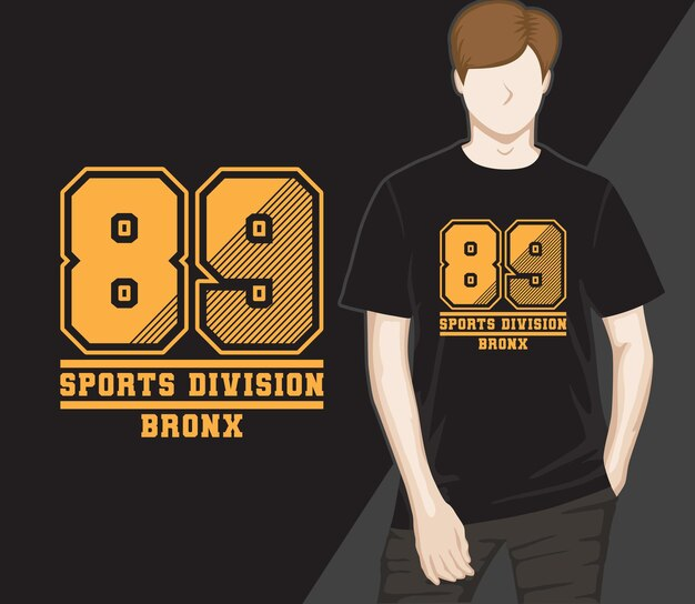 Conception de t-shirt de quatre-vingt-neuf division sportive