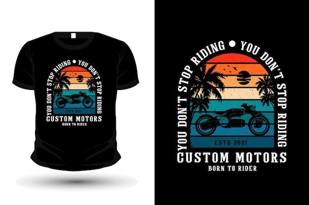 Conception de t-shirt silhouette de marchandise de surf paradis tropical