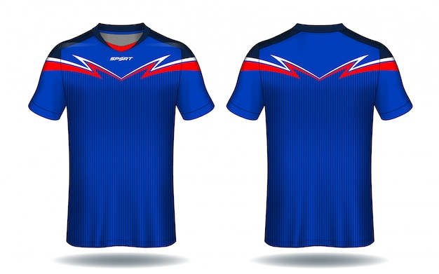 Conception de t-shirt de sport en jersey de football.