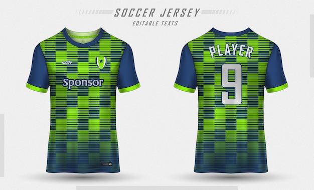 Conception De T-shirt De Sport De Modèle De Maillot De Football Vecteur Premium