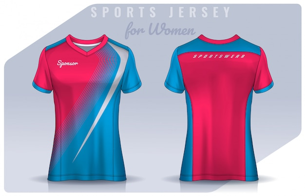 Conception de t-shirt sport pour femme, maquette de maillot de football pour club de football. modèle d'uniforme de polo.