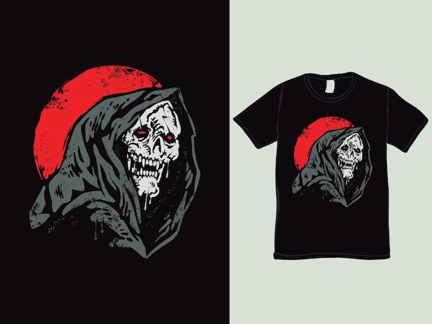 La conception de t-shirt de style vintage de la faucheuse