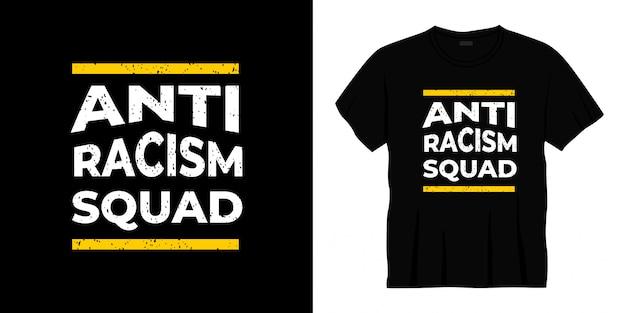 Conception de t-shirt typographie anti racisme