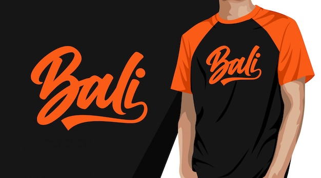 Conception de t-shirt typographie bali