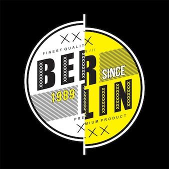 Conception de t-shirt typographie berlin