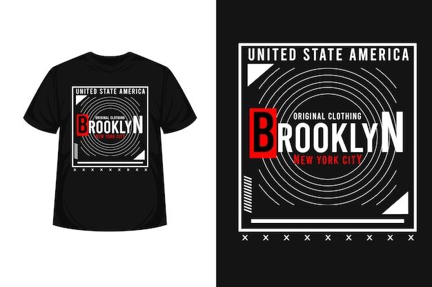 Conception de t-shirt typographie brooklyn new york city