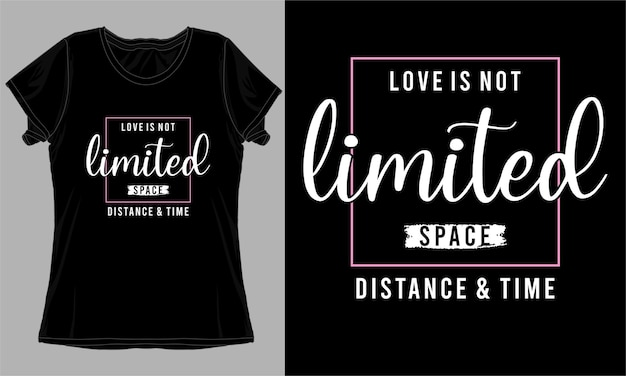 Conception de t-shirt typographie citation d'amour