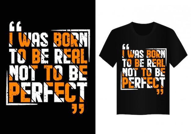 Conception de t-shirt typographie citation