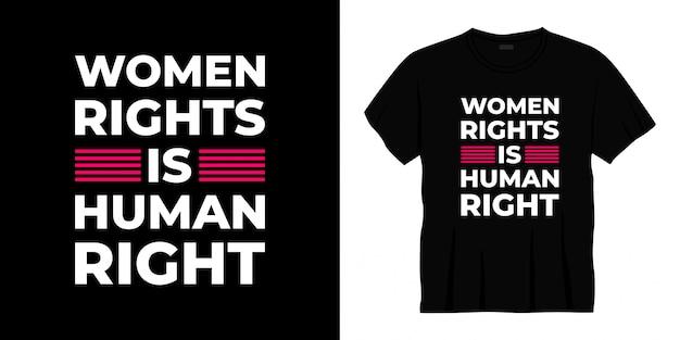 Conception de t-shirt typographie des droits de l'homme