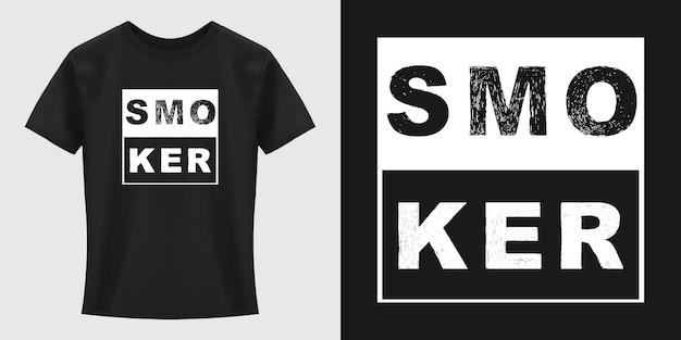 Conception de t-shirt de typographie de fumeur
