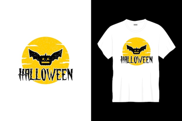 Conception de t-shirt typographie halloween