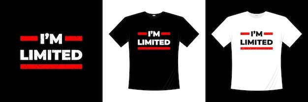 Conception de t-shirt typographie limitée