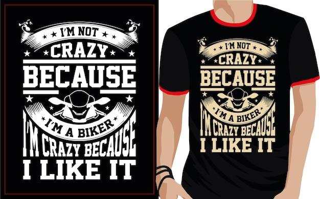 Conception de t-shirt typographie motard