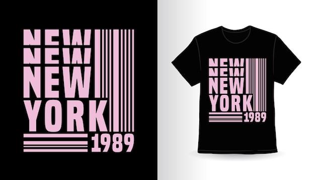 Conception de t-shirt de typographie de new york dix-neuf quatre vingt neuf