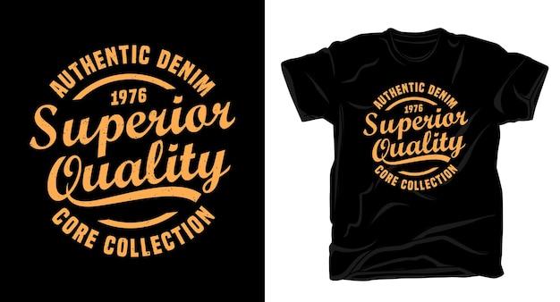 Conception de t-shirt typographie de qualité supérieure