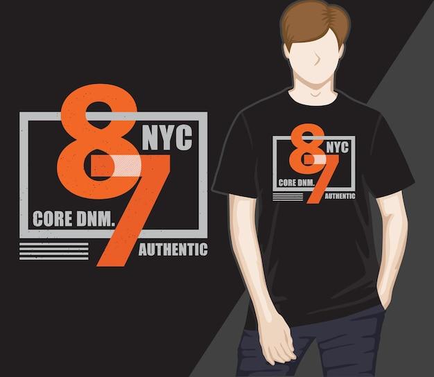 Conception de t-shirt typographie quatre-vingt-sept de la ville de new york