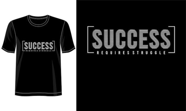 Conception de t-shirt typographie succès