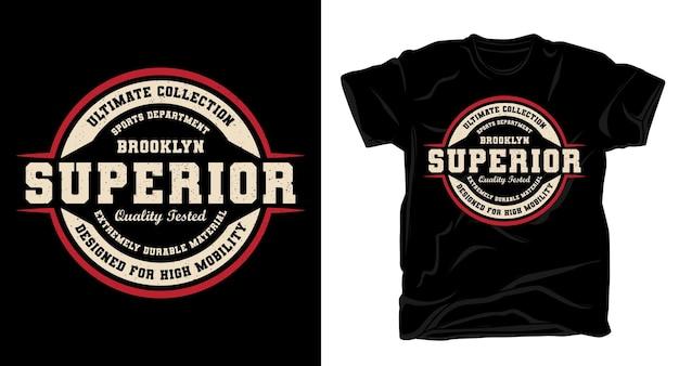 Conception de t-shirt de typographie supérieure brooklyn