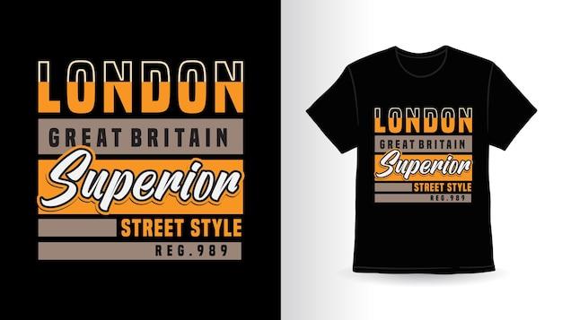 Conception de t-shirt typographie supérieure londres grande-bretagne