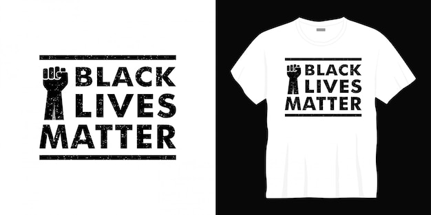 Conception de t-shirt typographie vie noire importe