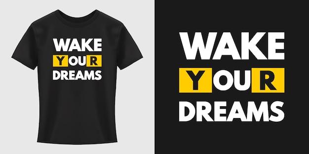 Conception de t-shirt de typographie