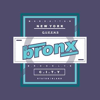La conception de t-shirt typographique de bronx