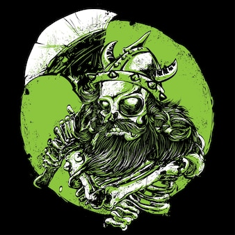 Conception de t-shirt viking