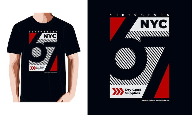 Conception de t-shirts et vêtements new york city