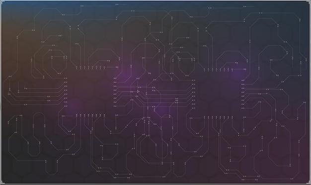Conception de tableau de bord d'illustration technologique
