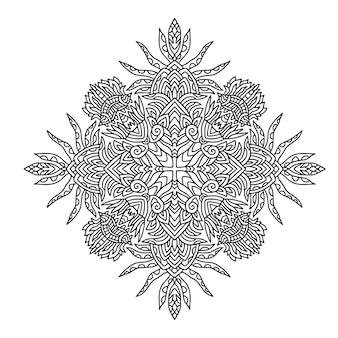 Conception de tapis mandala
