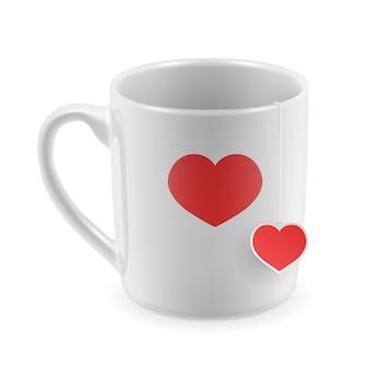 La conception de tasse de valentine