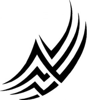 Conception de tatouage tribal lignes