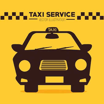 Conception de taxi, illustration vectorielle.