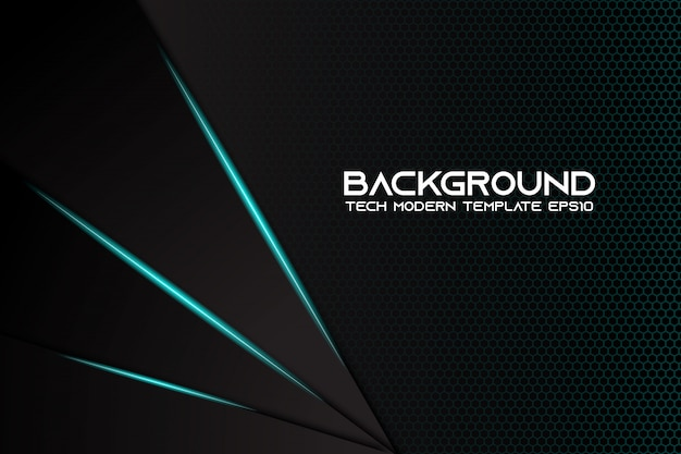 Conception de technologie moderne abstrait fond noir métallique