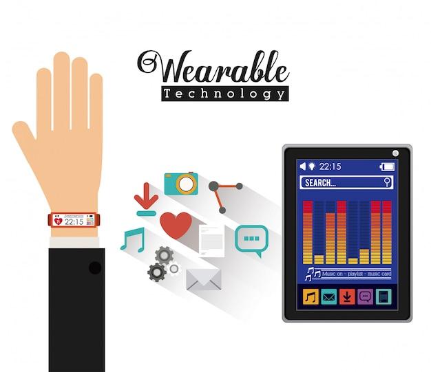 Conception de la technologie smartwatch, illustration vectorielle.