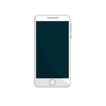 Conception de téléphone portable en blanc
