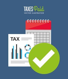 Conception de temps d'impôt