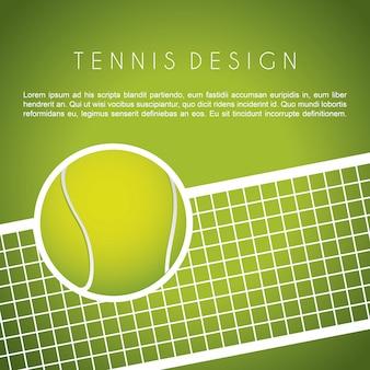 Conception de tennis au cours de l'illustration vectorielle fond vert