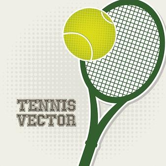 Conception de tennis au cours de l'illustration vectorielle fond vintage